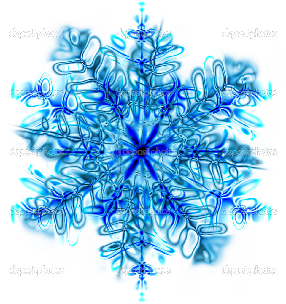 Snowflake isolated on the white background — 图库照片 #15733843