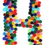 プラスチック製のアルファベットから h の手紙 — ストック写真