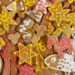 Christmas gingerbread background — Stock Photo