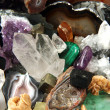 Stock Photo: Minerals and gems background