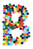 B letter from plastic alphabet — Stock Photo