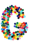 G letter from plastic alphabet — Stock Photo