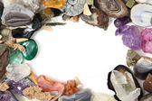 Minerals and gems frame — Stock Photo