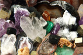 Minerals and gems background — Stock Photo
