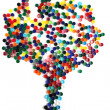 Tree from plastic caps - Stock Photo