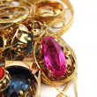 Stock Photo: Golden jewerly background