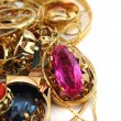 Golden jewerly background — Stock Photo
