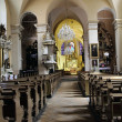 Old church interior - Stock Photo