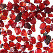 Natural pyrote garnet background (minerals, gems) - Stockfoto