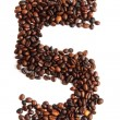 5 - number from coffee beans — Stock Photo #21137317