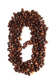 0 - number from coffee beans — Stock Photo