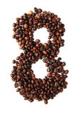 8 - number from coffee beans — Stock Photo