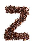 Z - alphabet from coffee beans — Stock Photo
