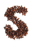 S - alphabet from coffee beans — Stock Photo