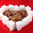 Stock Photo: Valentine heart from sugar