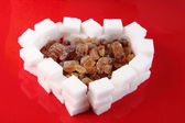 Valentine heart from the sugar — Стоковое фото