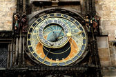 Prague clock detail — Stock Photo