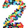2 - number from the plastic caps — Stock Photo #21248713