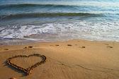 Heart on the beach — Stock Photo