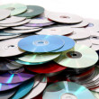 Cd and dvd background — Stock Photo