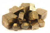 Golden cubes — Stock Photo