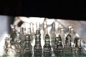 Glass chess set — Stock Photo