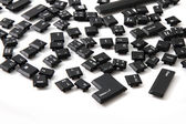 Chaos backgroudn from keyboard keys — Stock Photo
