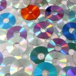 CD and DVD as background — Stock Photo