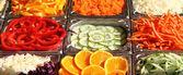 蔬菜和水果背景 — 图库照片