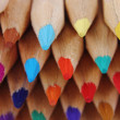 Color crayons background — Stock Photo