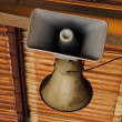Old speaker from rail station - Stock Photo