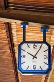 Old clock from rail station — Stock Photo