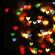 Stock Photo: Abstract christmas background (color heart lights)