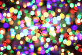 Abstract background from christmas lights — Stock Photo