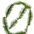 0 - number symbol from christmas alphabet — Stock Photo