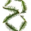 8 - number symbol from christmas alphabet — Stock Photo