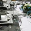 Detail wedding table decorations — Stock Photo