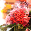 Rowan berries as wedding flower — Stock Photo