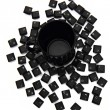 Keyboard keys in black pot — Stock Photo #40466265