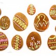Стоковое фото: Easter gingerbread cookies - czech tradition