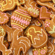 Easter gingerbread cookies - czech tradition — Stock Photo