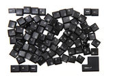 Chaos from keyboard keys — Stockfoto