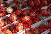 Renkli Paskalya yumurta (Çek geleneği) — Stok fotoğraf