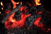 Fireplace background (fire texture) — Stock Photo