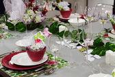Tavolo di nozze — Foto Stock
