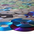 Stock Photo: CD and DVD data background