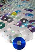 Cd- och dvd data bakgrund — Stockfoto
