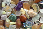 Color gemstones background — Stock Photo