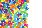 Color plastic letters as background — Stock Photo
