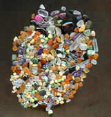 Fondo de las piedras preciosas de color — Foto de Stock